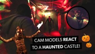 VIDEO: CAM MODELS REACT TO A HAUNTED CASTLE!