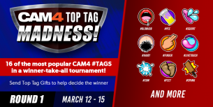 CAM4 Launches Top Tag Madness